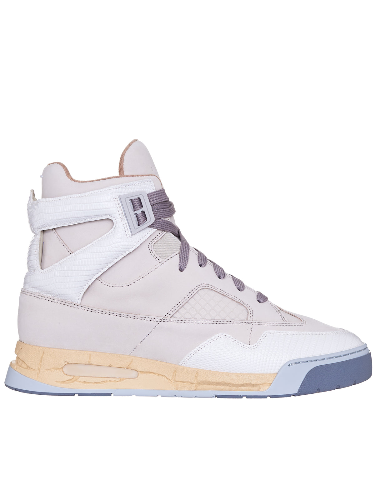 High-Top Sneaker Trainer (S57WS0378-P3961-IVORY-OFF-WHIT)