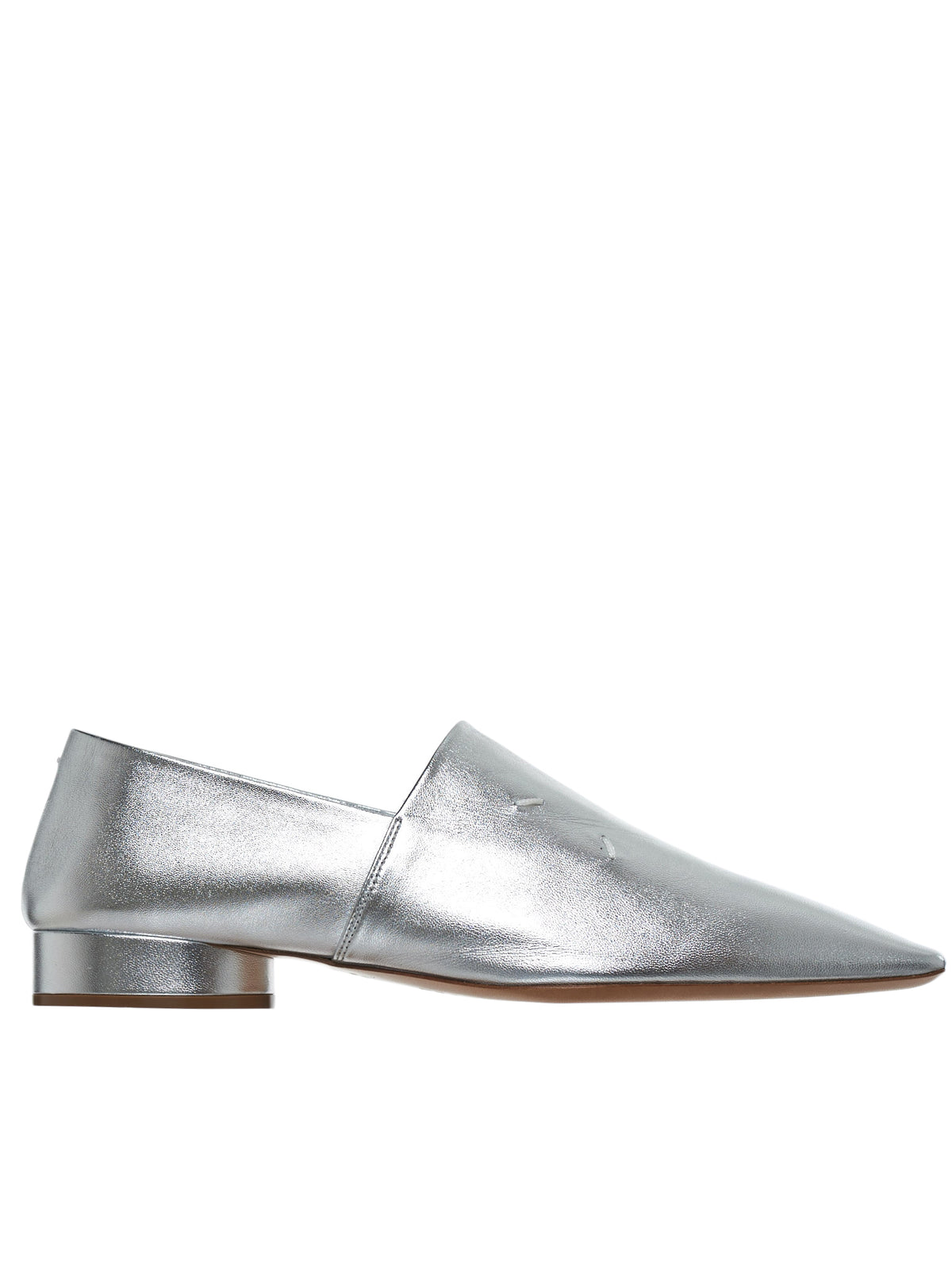 Metallic Leather Loafer (S58WR0036-PR695-SILVER)