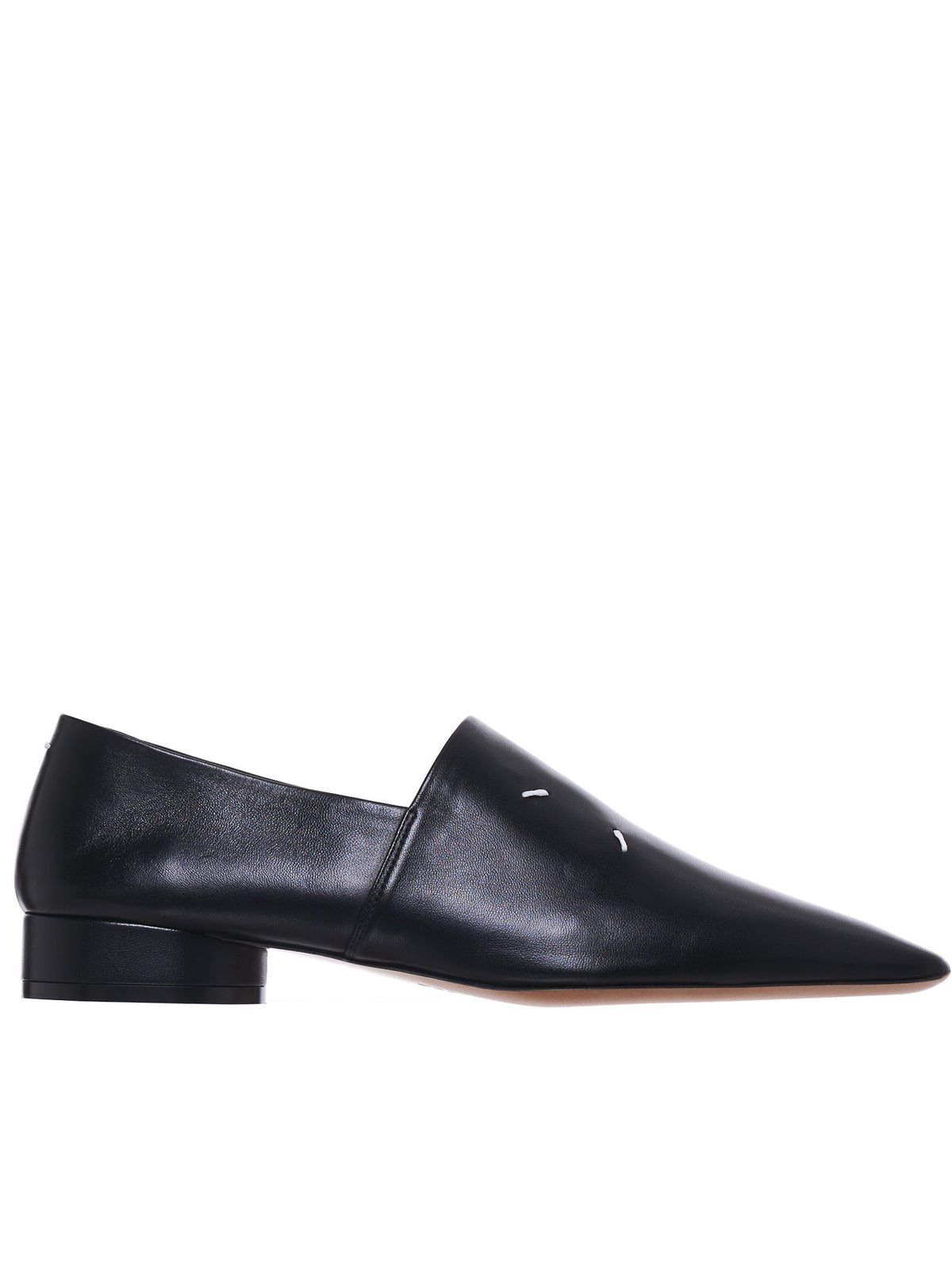 4-Stitches Leather Loafer (S58WR0036-PR869-BLACK)