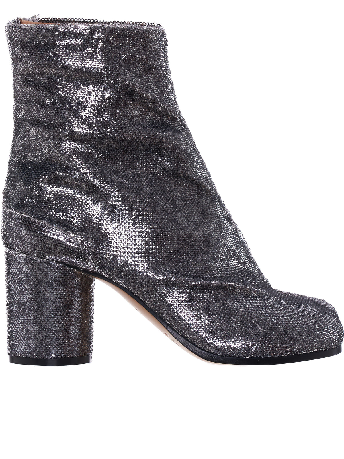 Tabi Sequined Ankle Boots (S58WU0260-P2768-SILVER)