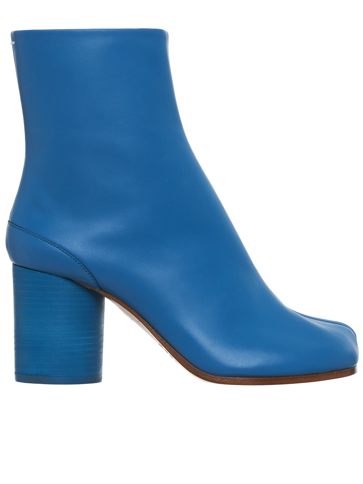 Tabi Leather Ankle Boots (S58WU0260-PR516-BLUE)