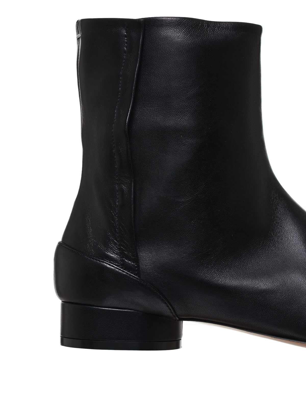 4-Stitches Leather Ankle Boots (S58WU0280-PR869-T8013-BLACK)