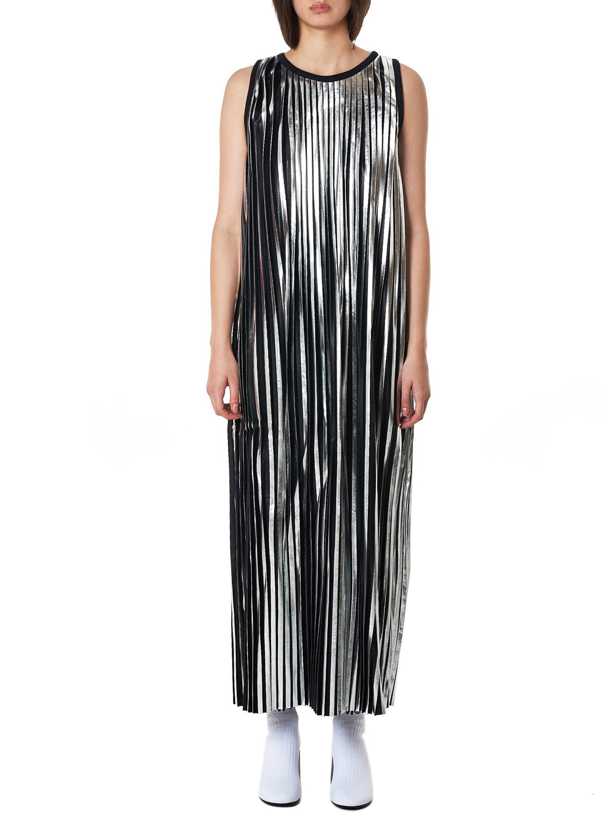 MM6 Maison Margiela Metallic Dress - Hlorenzo Front