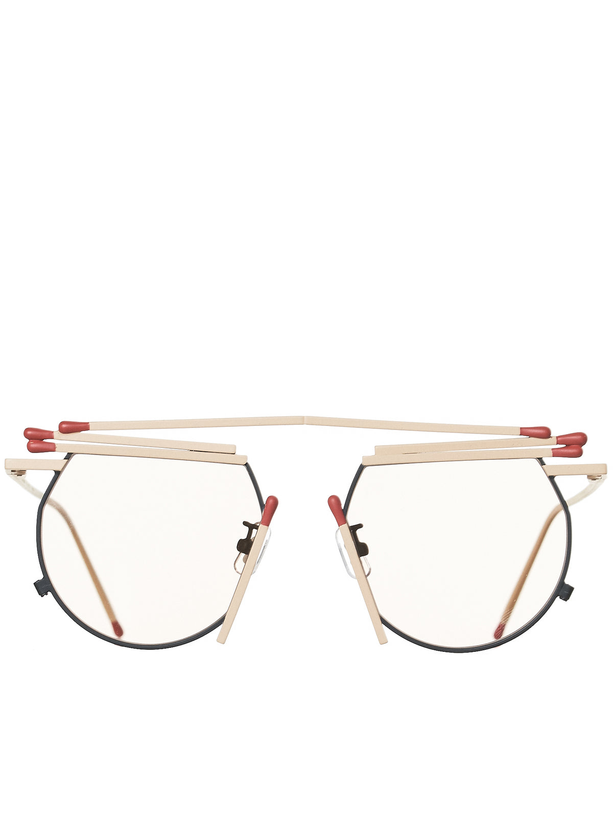 Matches Sunglasses (S901-2-MATCH-BEIGE-RED)