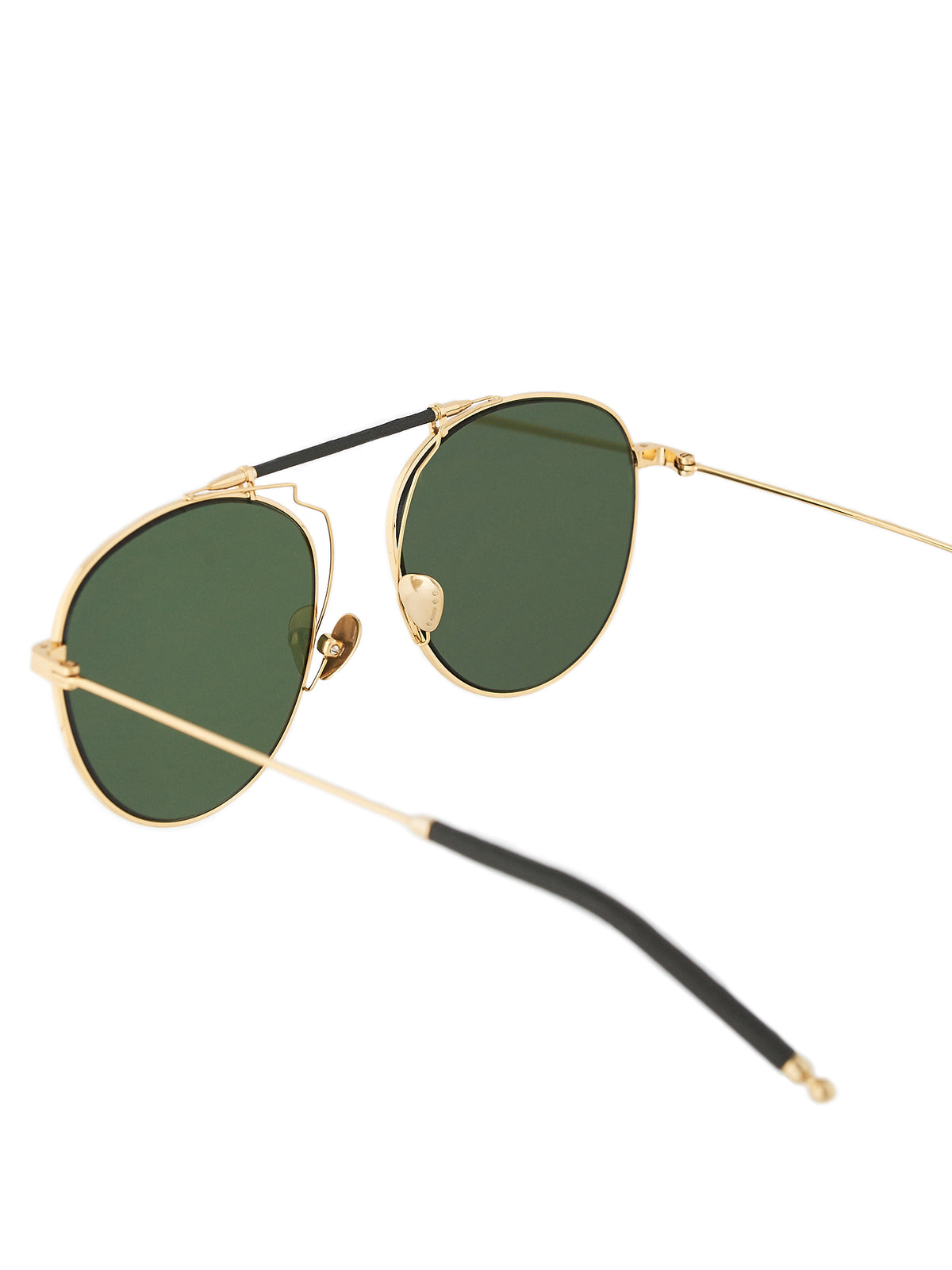 Sance - Yellow Gold/Green Leather Aviators (SANCE-803-YEL-GOLD-P3128-GS)