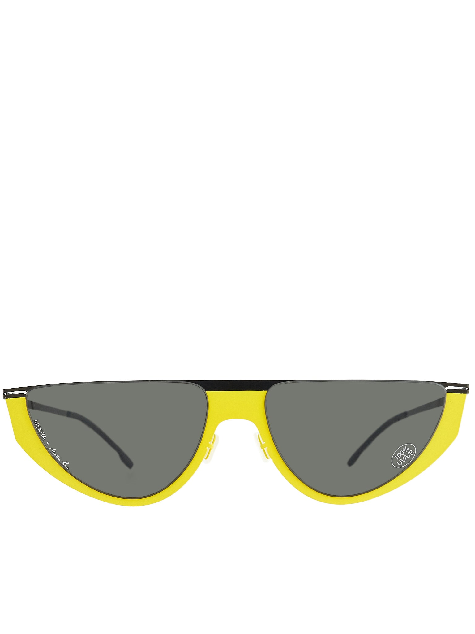 'Selina' Duotone Sunglasses (SELINA-BLACK-YELLOW-DARKGREY)