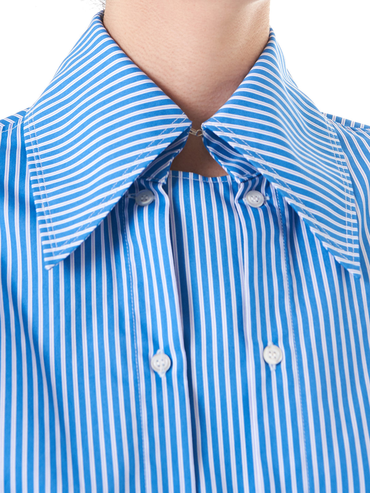 Striped Dual-Buttoned Shirt (SH02-W-STRIPES-LILAC-WHITE) - H. Lorenzo
