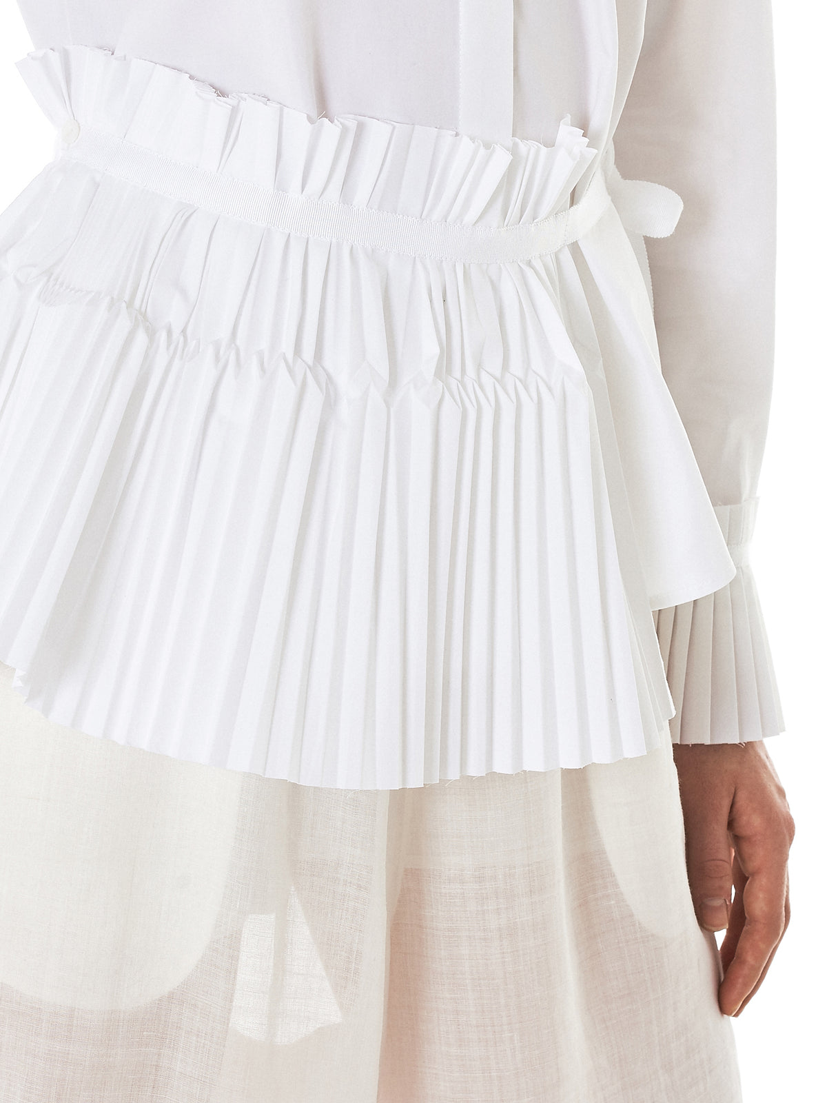 Shanshan Ruan Pleat Shirt - Hlorenzo Detail 2