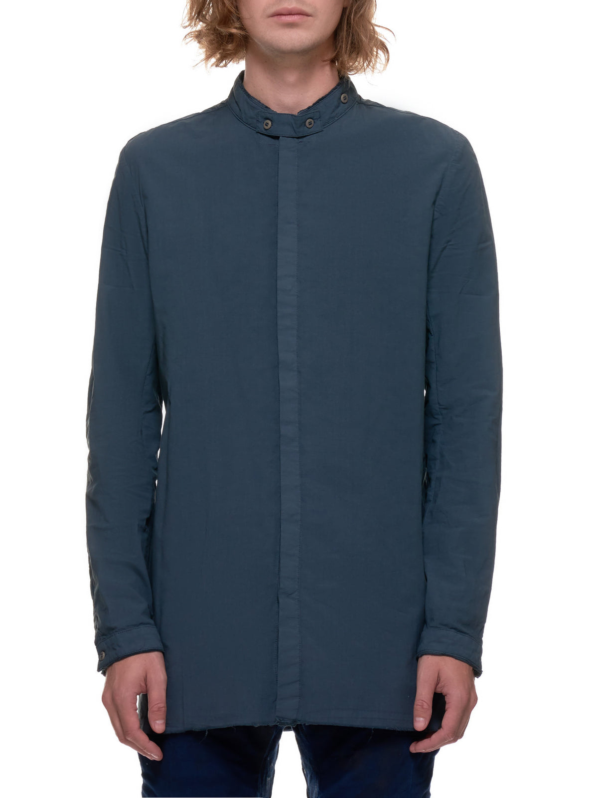 Bar Collar Shirt (SHIRT1-F1501M-SYNTH-BLUE)