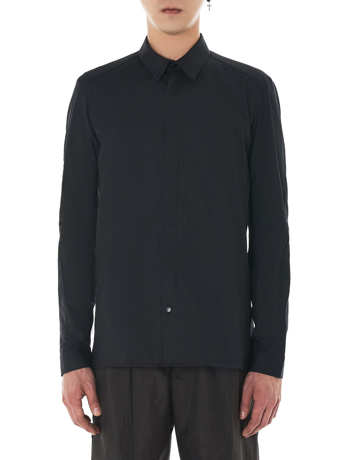 Concealed Zip Shirt (SHP-TCM-CHARCOAL) ...
