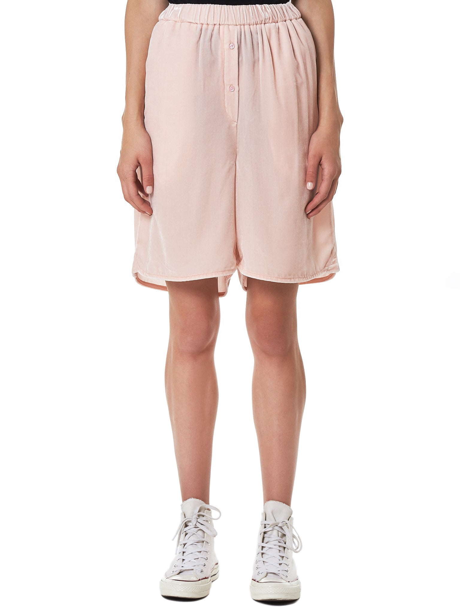 Cecilie Bahnsen Pink Shorts - Hlorenzo Front
