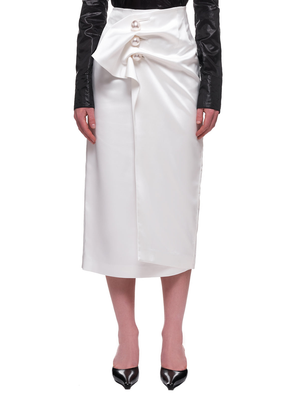 Draped Skirt (SK04-WHITE)