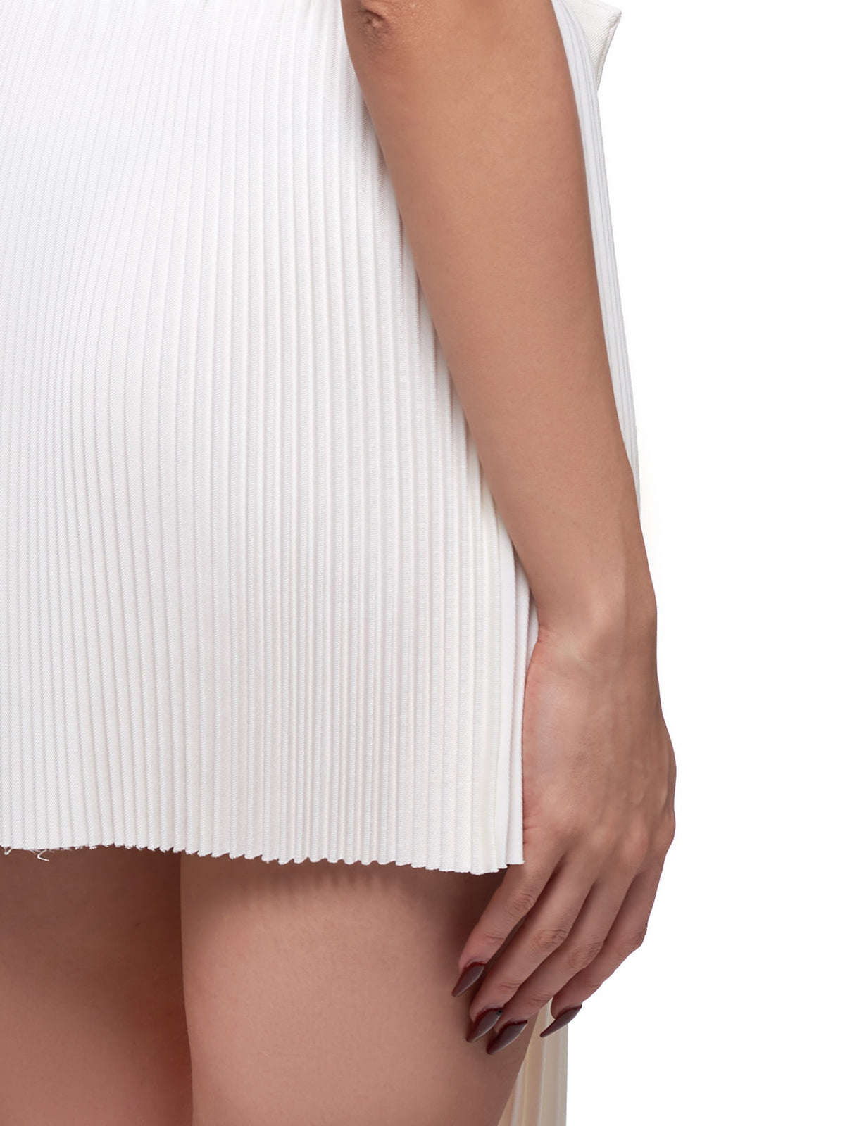 Pleated Skirt (SK05-WH100-WHITE)