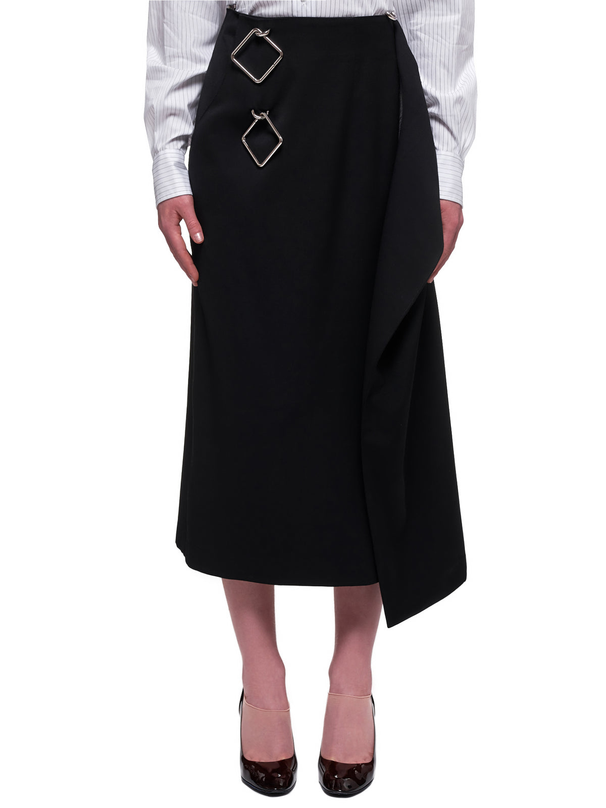 Draped Skirt (SK05A-BLACK)