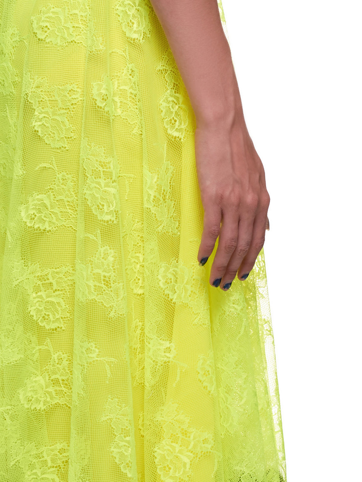 Chantilly Lace Neon Midi Skirt (SK1287-NEON-YELLOW)