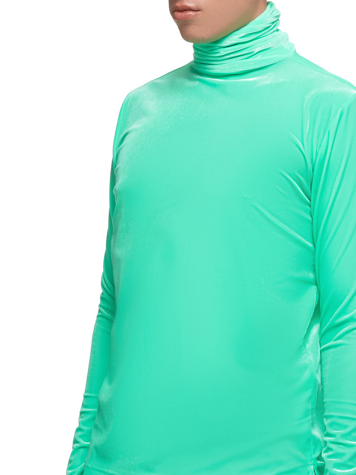 Crushed Velour Turtleneck (SKZM19AW0TL0601-GREEN)