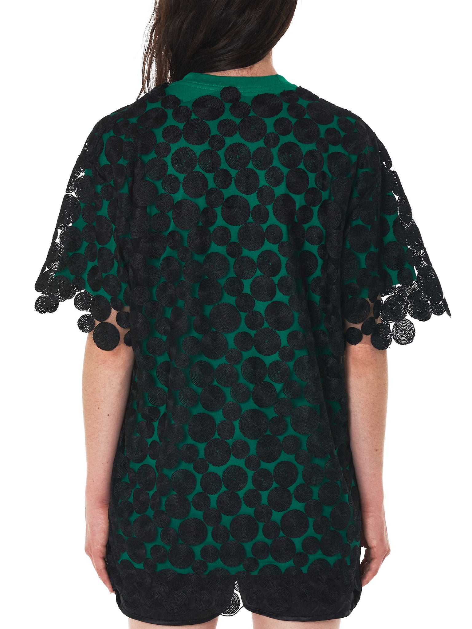 Lace Tunic Top (SS036TC-18C-GREEN-BLACK)