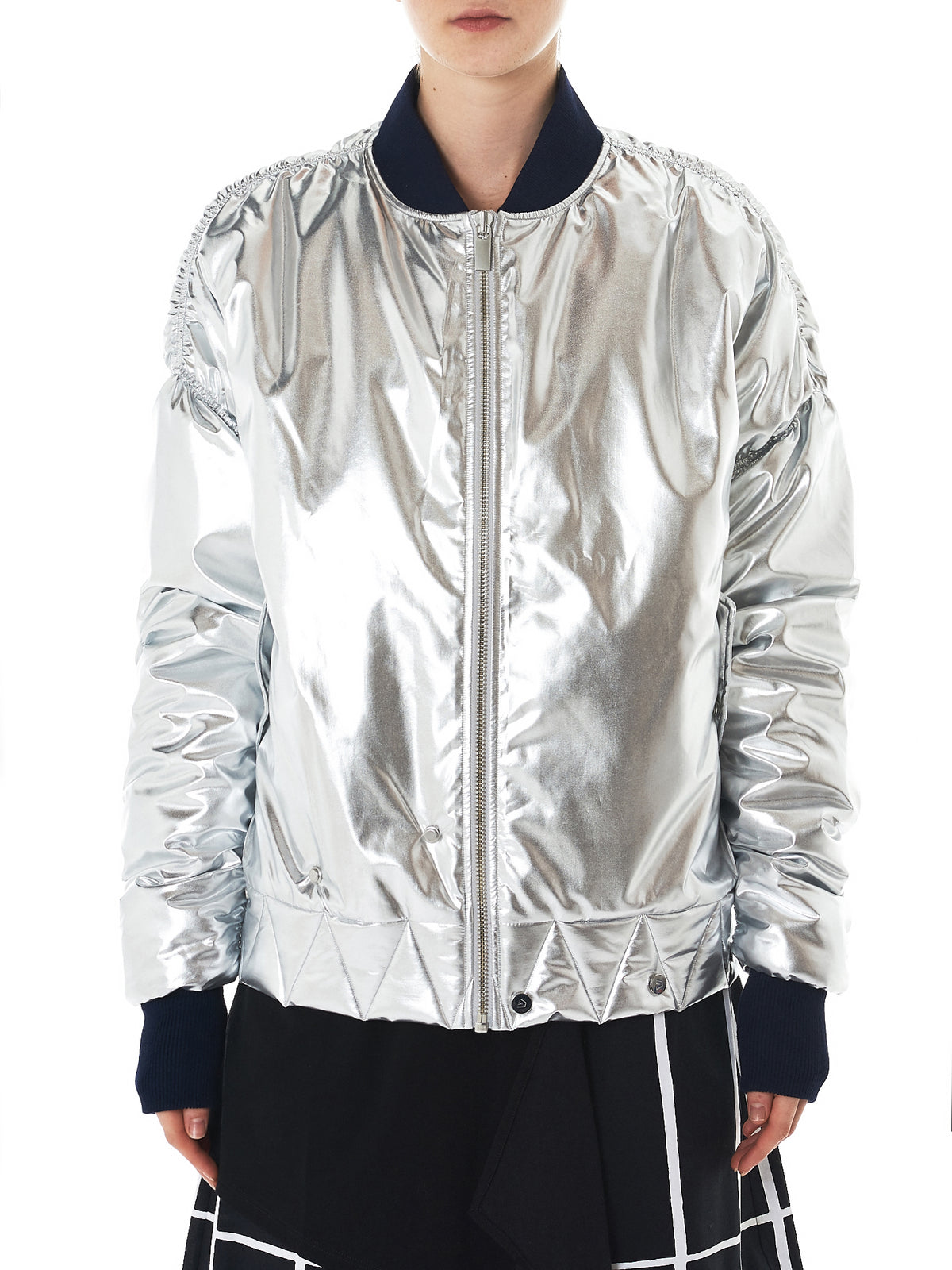 Quilted Bomber Jacket (SS0906-SILVER)