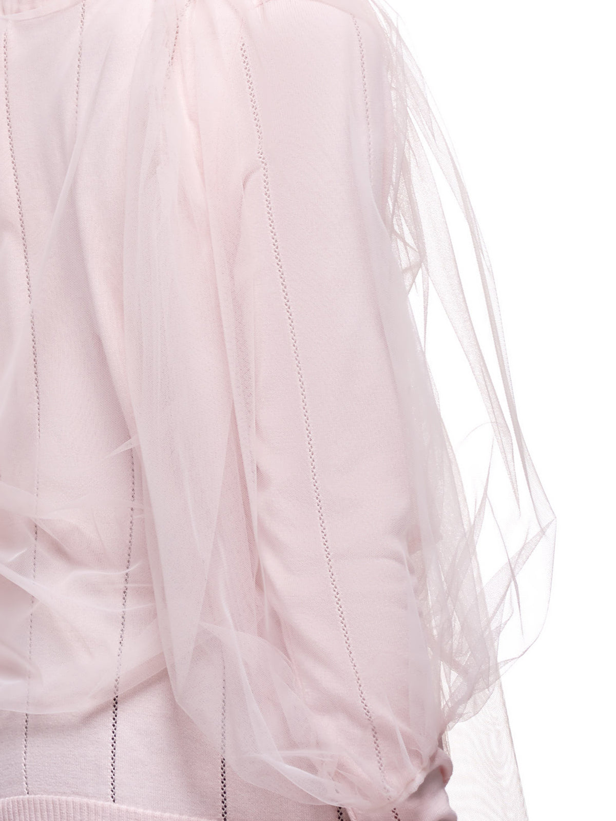 Puffy Tulle Long Sleeve Preppy Polo (SSK2006-ROSE)