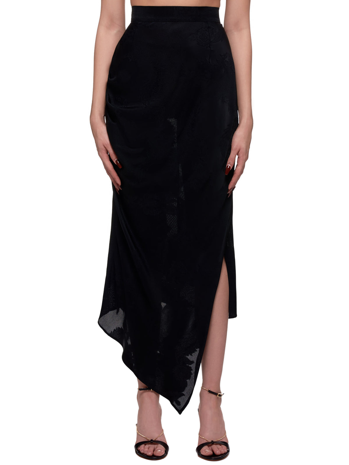 Embroidered Mermaid Maxi Skirt (SSS2001-BLACK)
