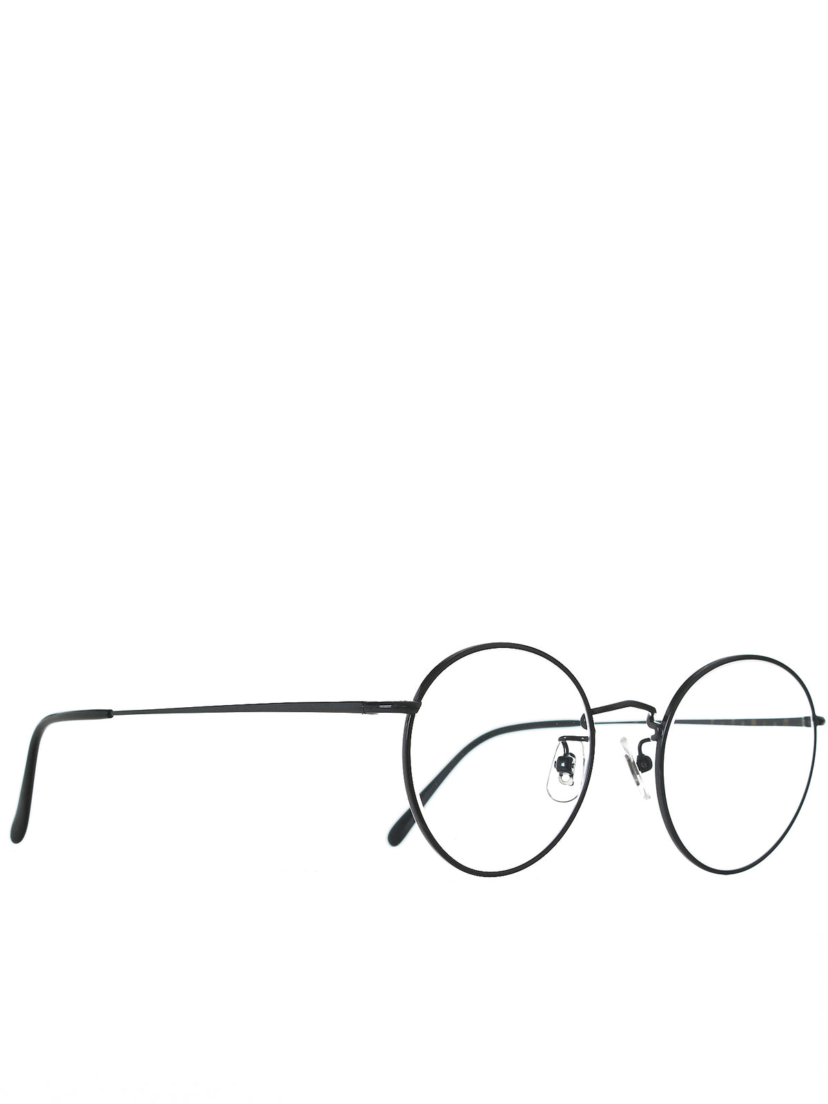 'BOSTON' Round-Frame Glasses (ST-TITAN-BOSTON-MD-GRAY-CLEAR)