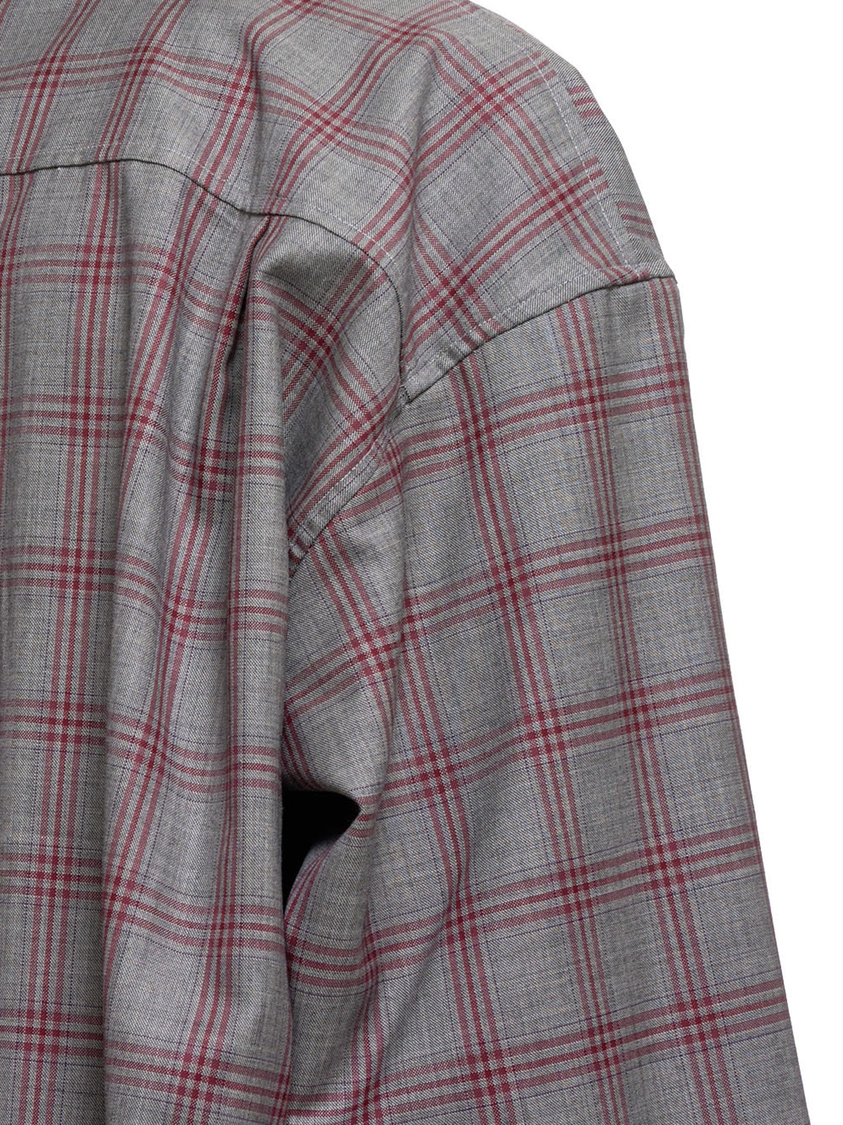 Plaid Punk Shirt (ST45SHT-RED-GRAY)