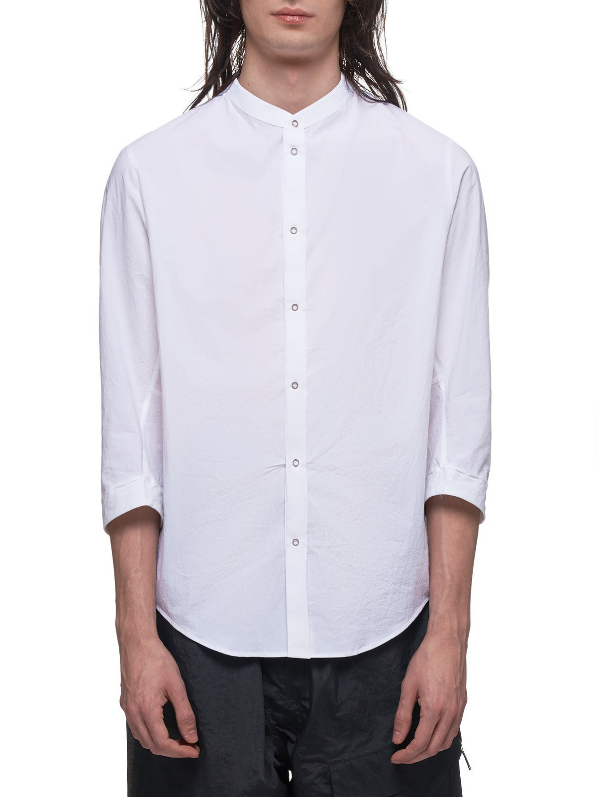 Stand Collar Shirt (STAND-COLLAR-SHIRT-M-S-WHIT)