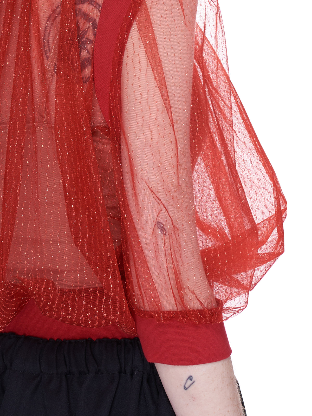 Sheer Mesh Blouse (SU1A1404-RED)