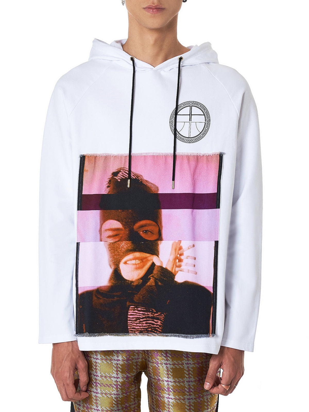 Collage Appliqué Hoodie (SW09-2-WHITE)