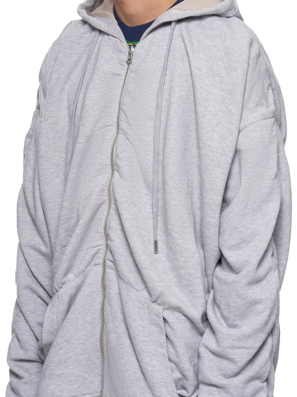 Reversible Hoodie (SWEAT23-S16-MF26-GREY-CHINE)