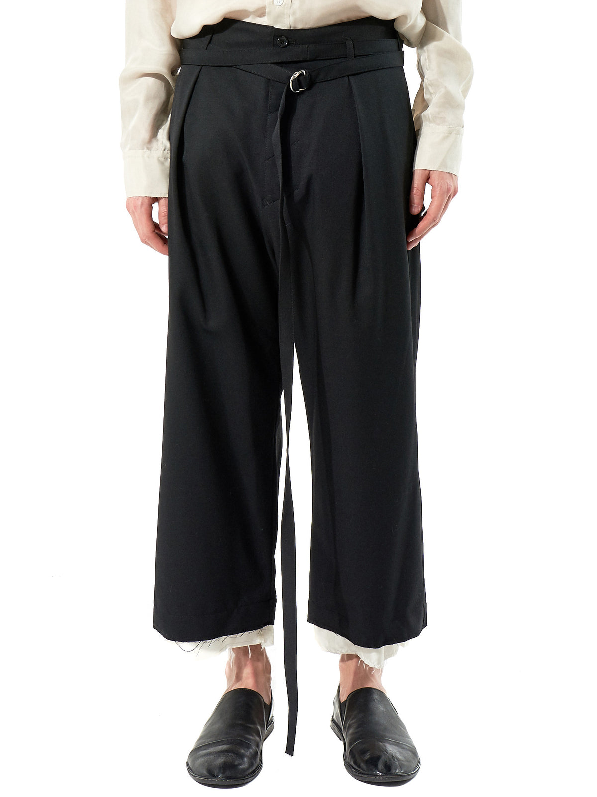 Deconstructed Black Trouser (SF-P01-100 BLACK) - H. Lorenzo