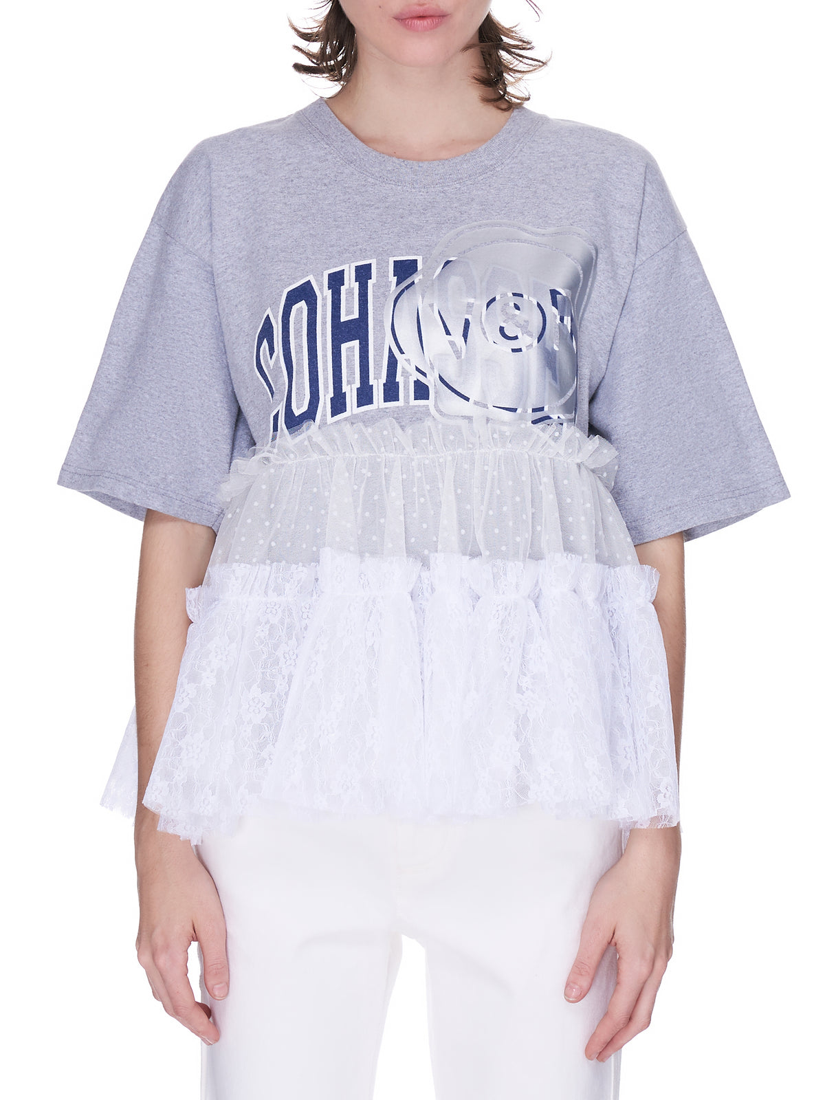 Re-Ruffled Tutu Top (T001AX-GREY-COHASSET)