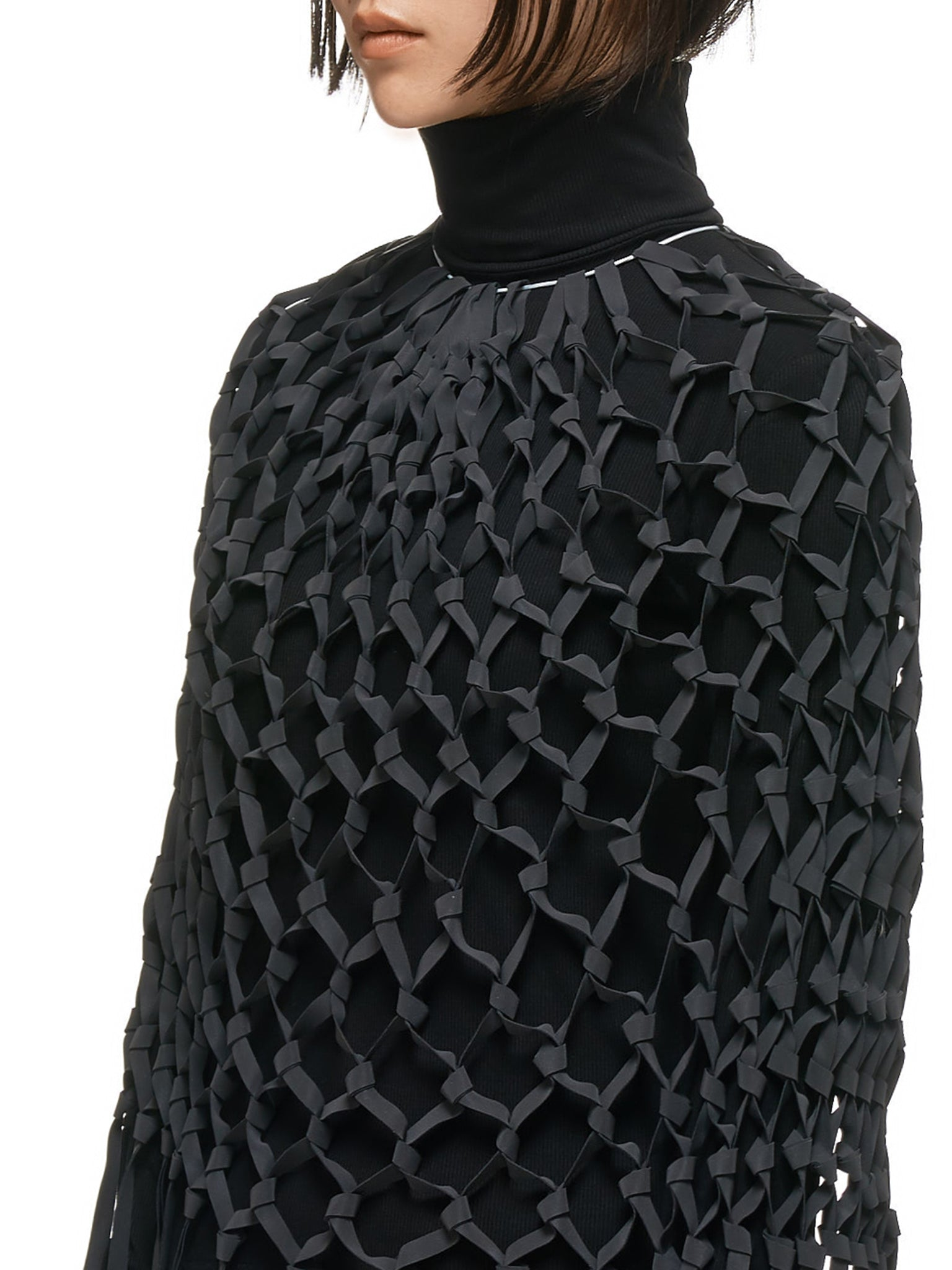 Xiao Li Turtleneck Top - Hlorenzo Detail 1
