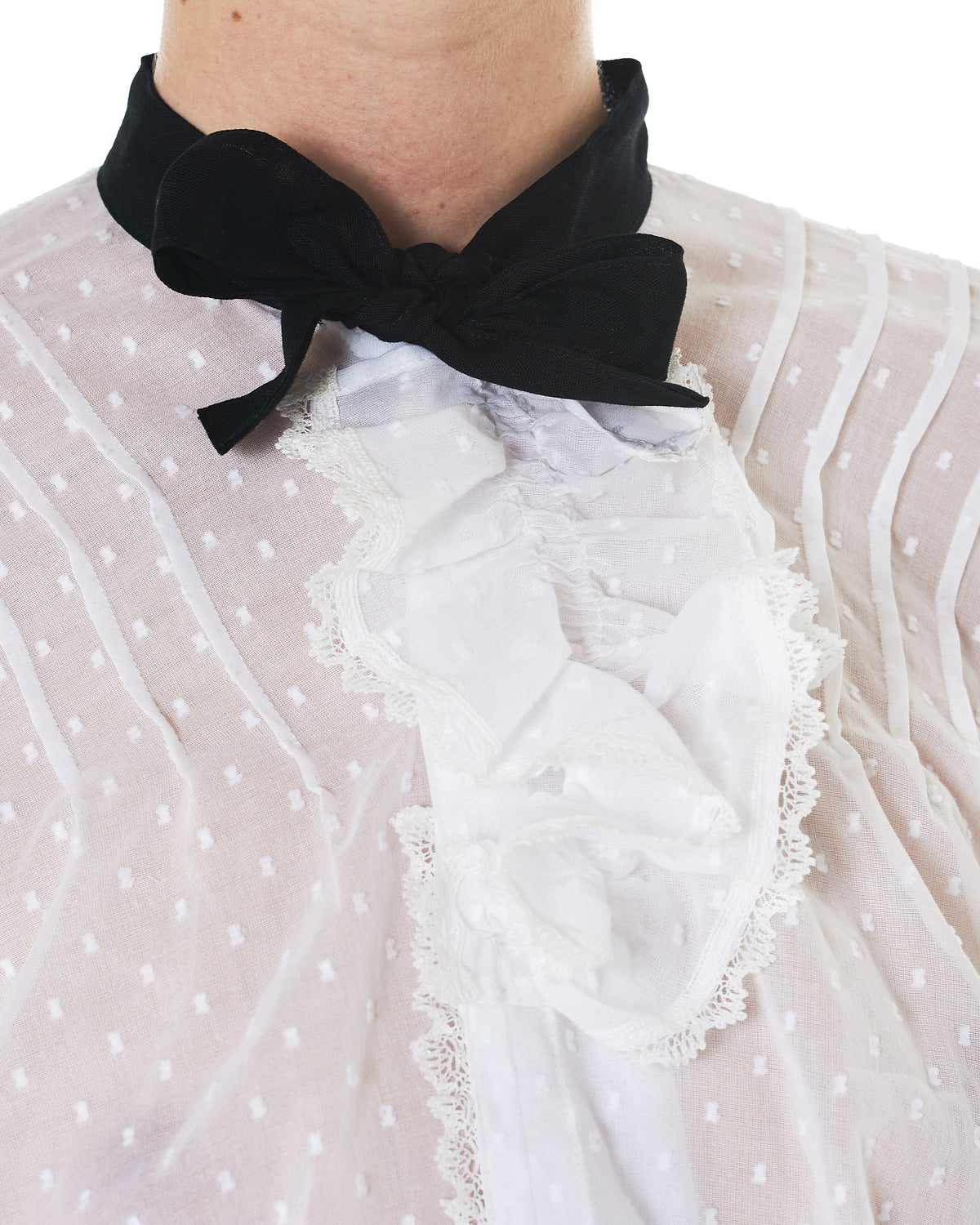 Sheer Bowtie Blouse (TA-B202-051-2)