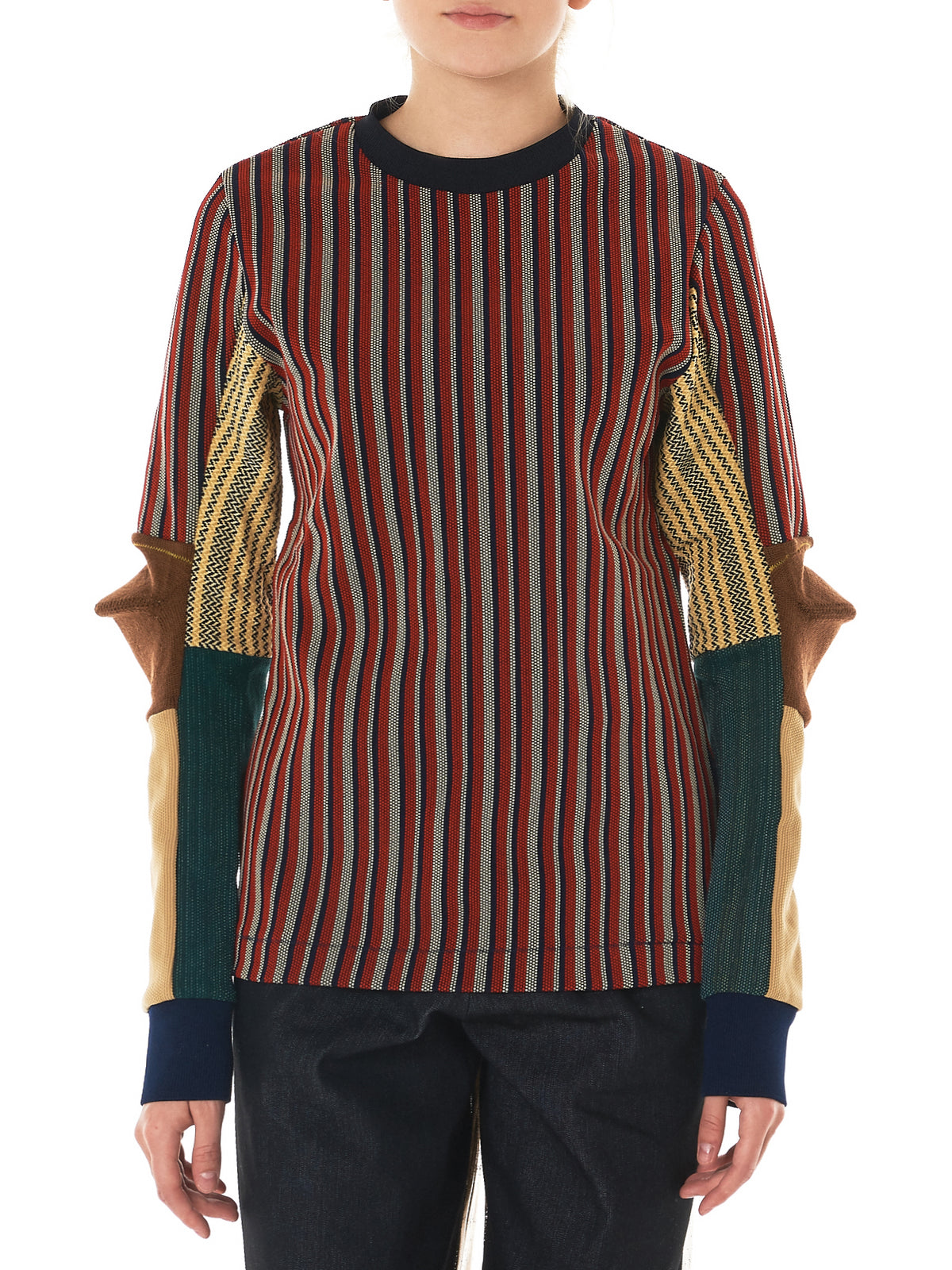 Jacquard Paneled Sweater (TA72-JK068-E-MIX)