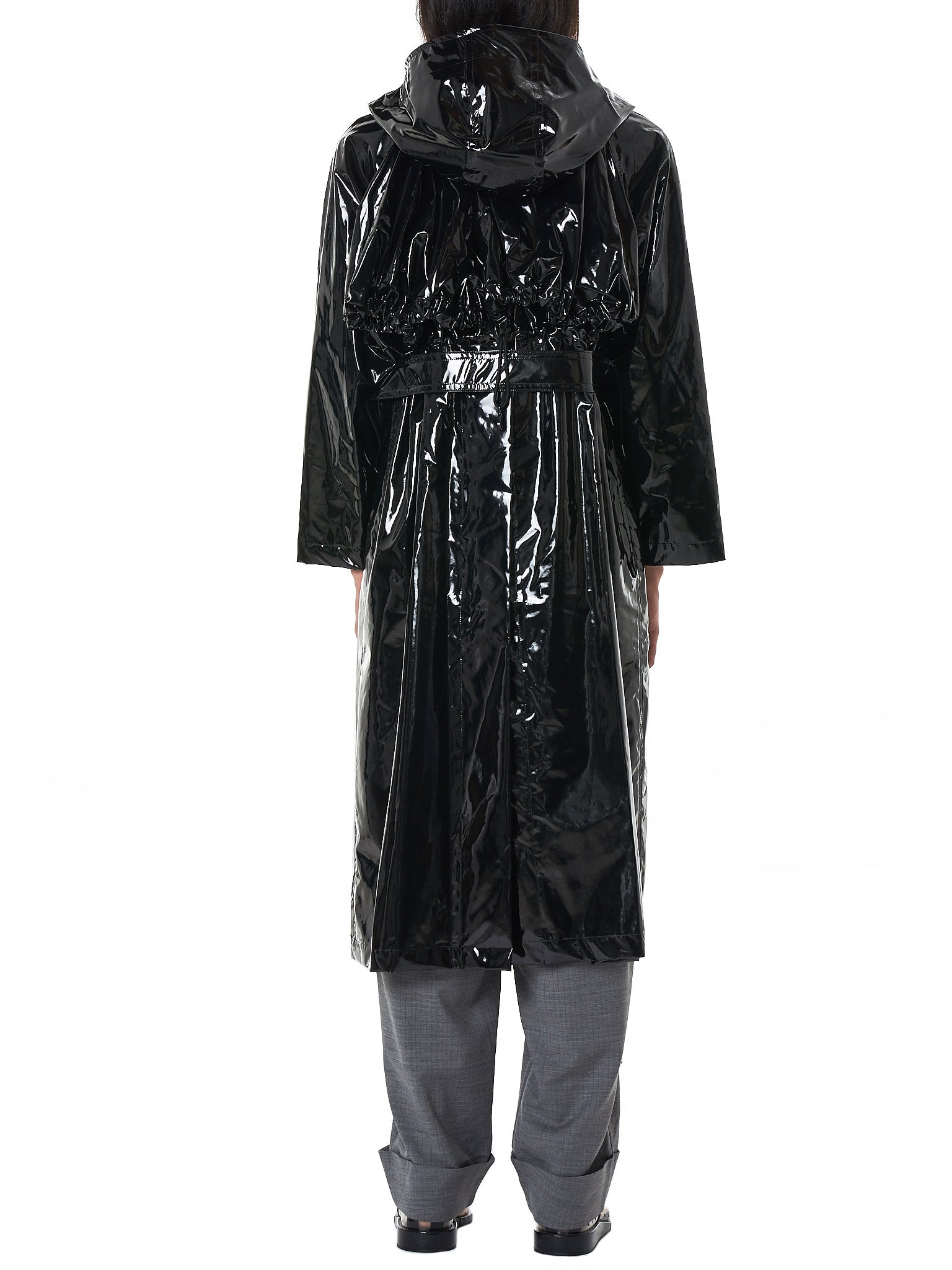 High-Shine Packable Raincoat (TA82-FA108-E-BLACK)