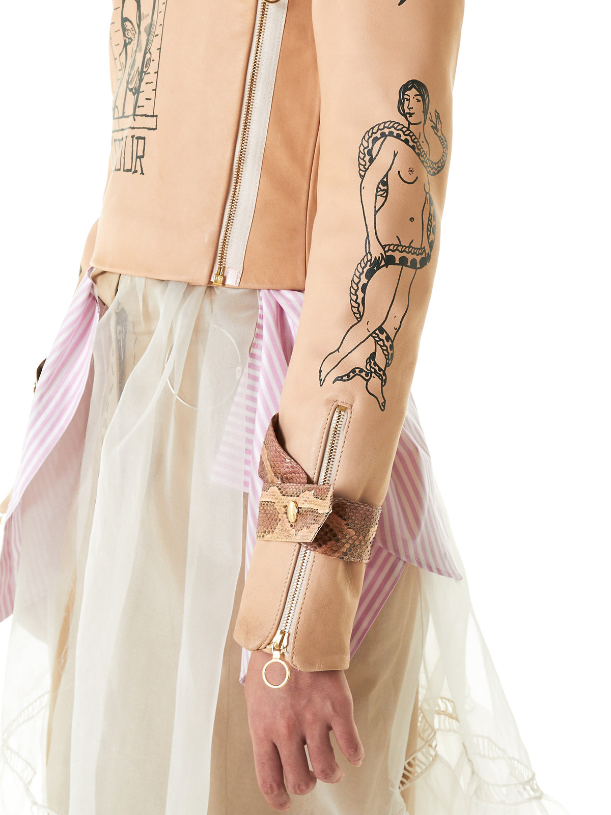 Graphic Biker Jacket (TATTOO-BIKER-LEATHER-) - H. Lorenzo