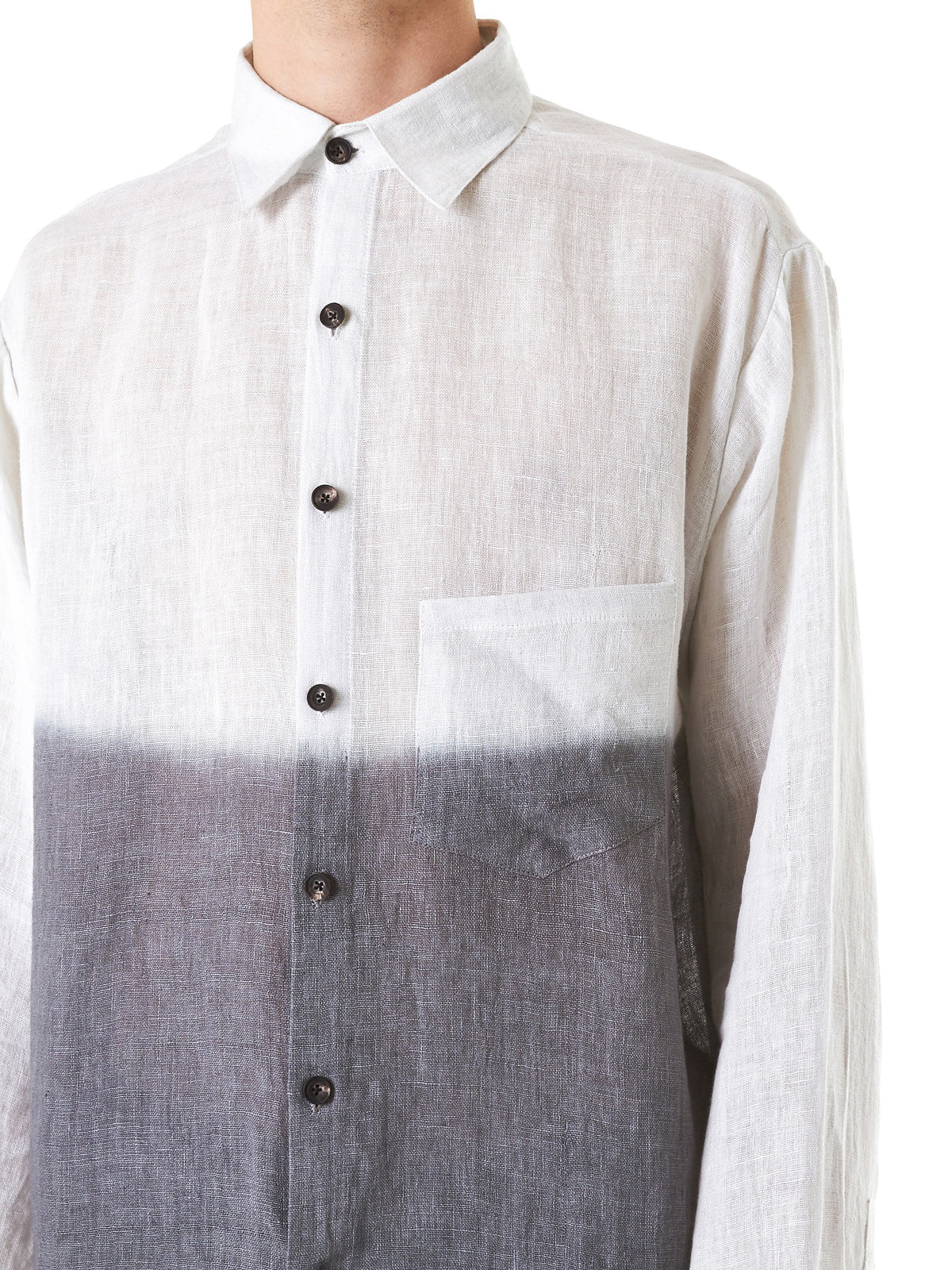 Tritone Button-Down Shirt (TIE-DYE-WHITE-CHARCOAL-BLACK) - H. Lorenzo