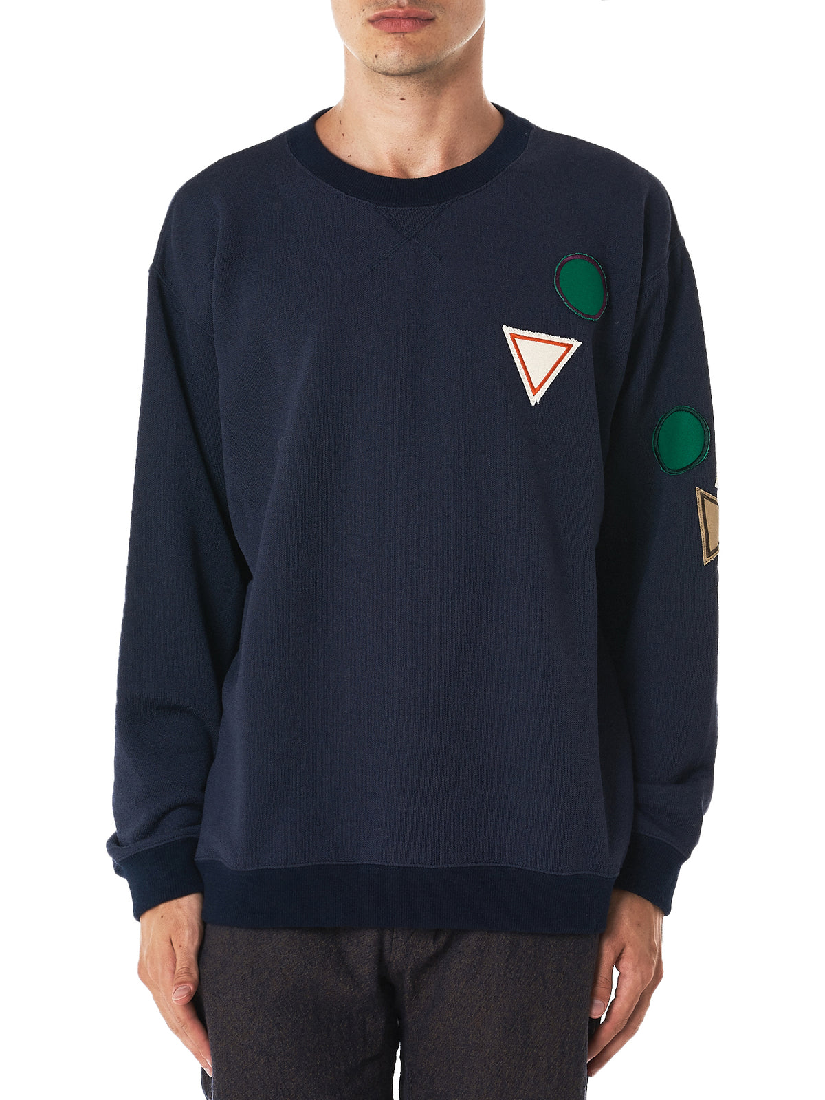 Embroidery Crewneck Sweater (TMF-1718-NAVY-MULTI)
