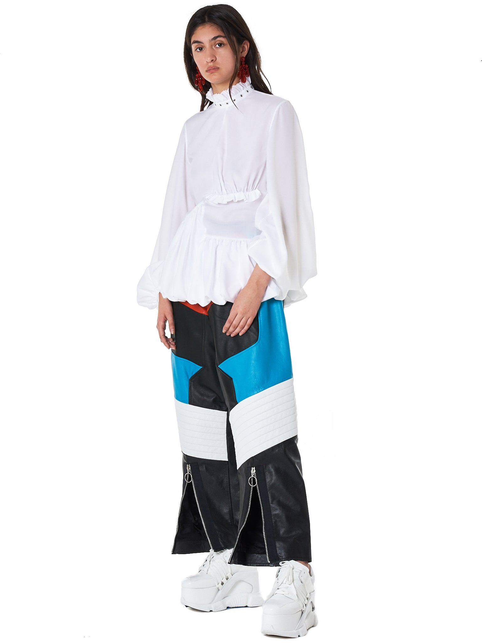 Colorblock Biker Trouser (TR0097-LTH-MULTI)