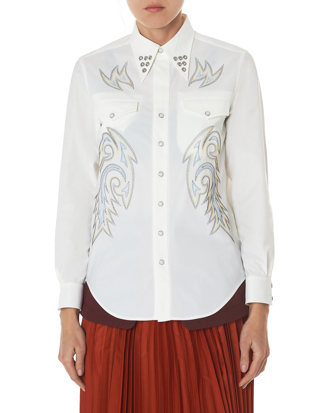 Toga Archives Embroidery Shirt - Hlorenzo Front