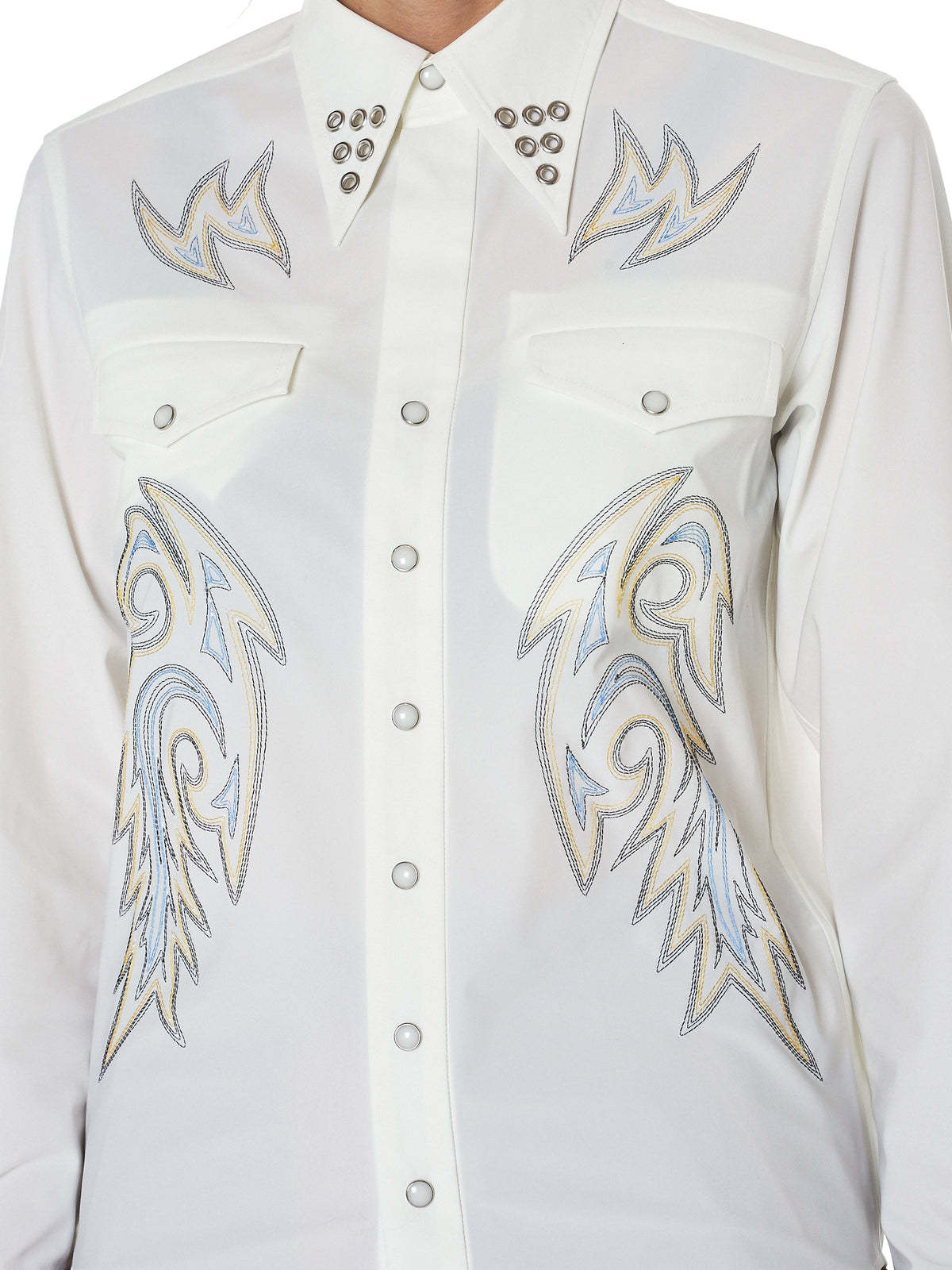 Toga Archives Embroidery Shirt - Hlorenzo Detail 2