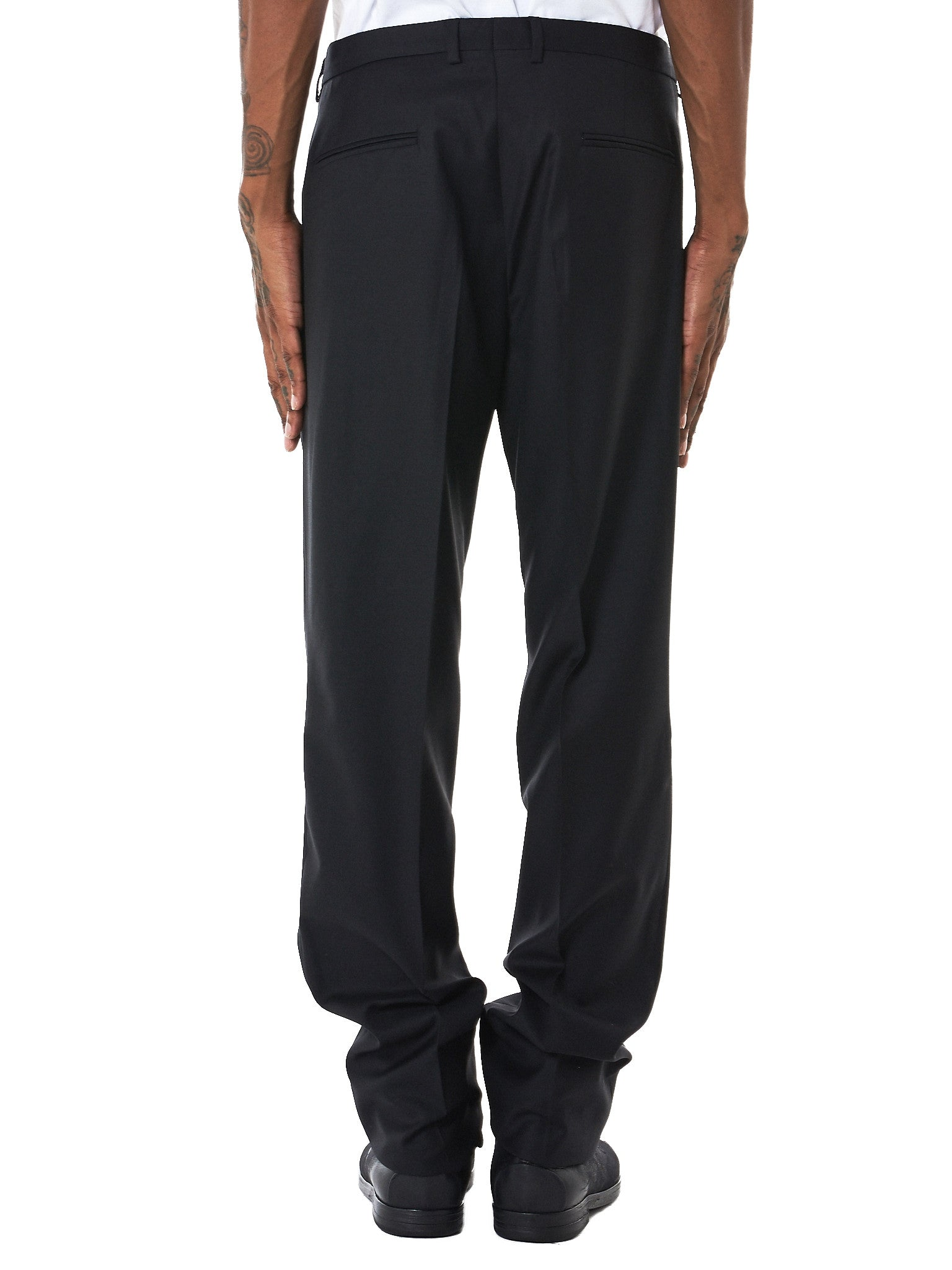 Reversible Suit Trousers (TR01-SOLID-BLACK)