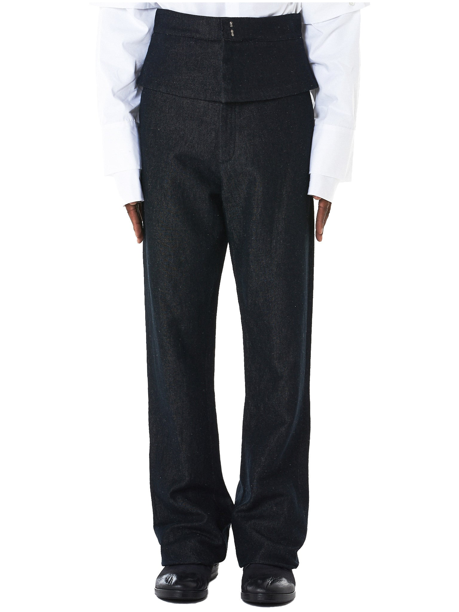 Double Waist Denim Trousers by Delada