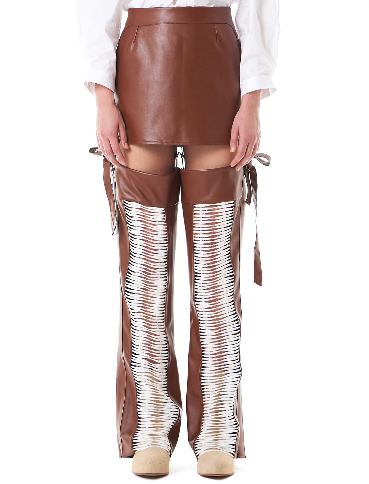 Hybrid Drawstring Skirt-Pants (TR04-LIGHTBROWN) - H. Lorenzo