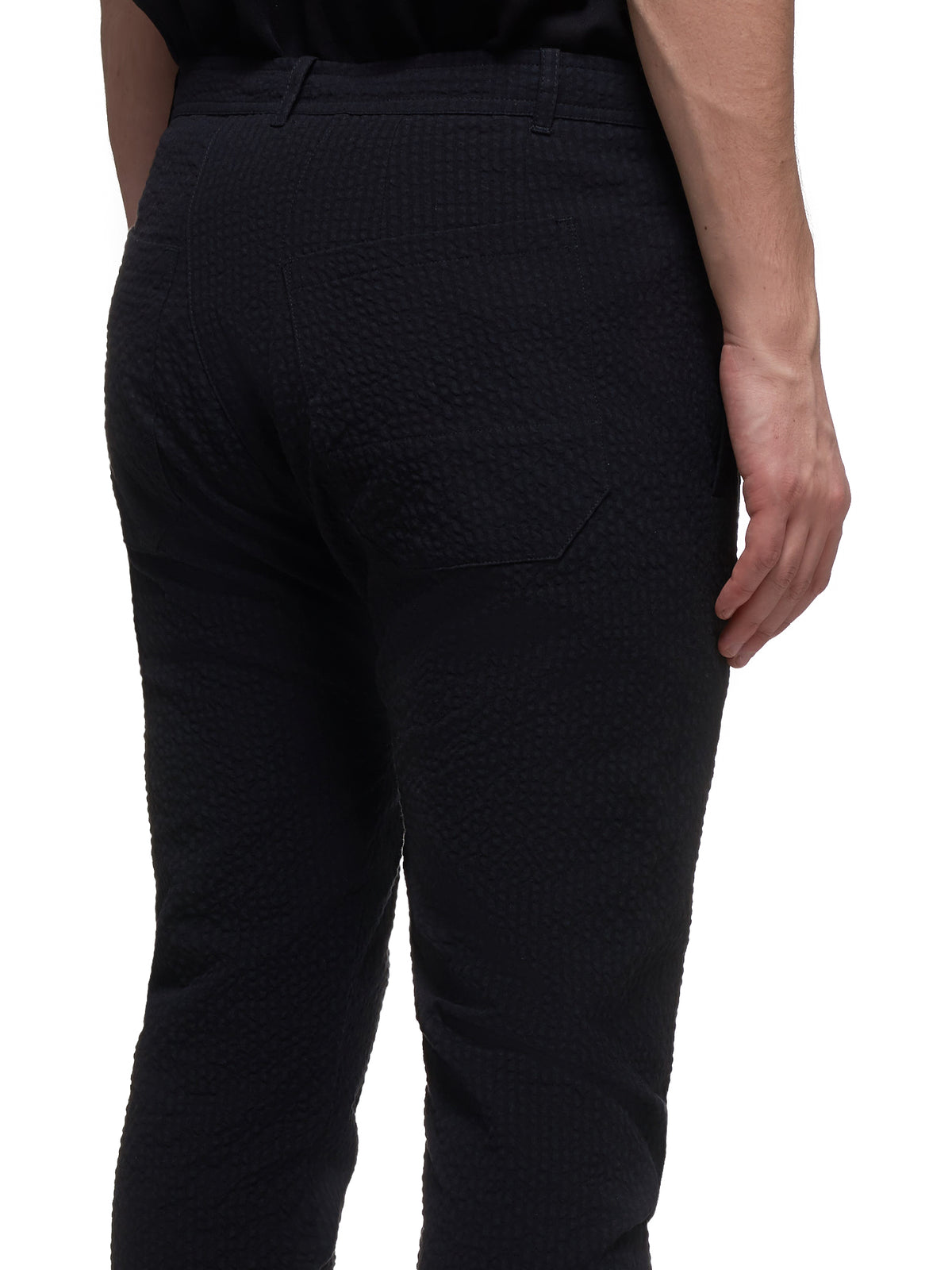 Checked Seersucker Trousers (TROUSERS-49-SEERSUCKER-BLACK)