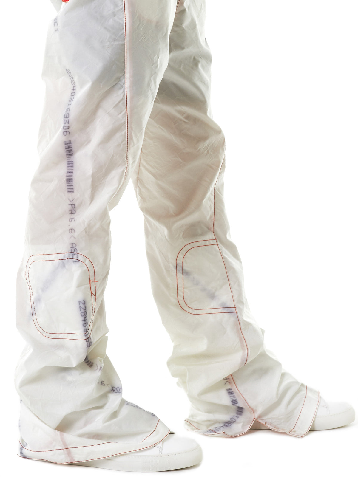 Engineered Threaded Trousers (TRS02-OFF-WHITE) - H. Lorenzo