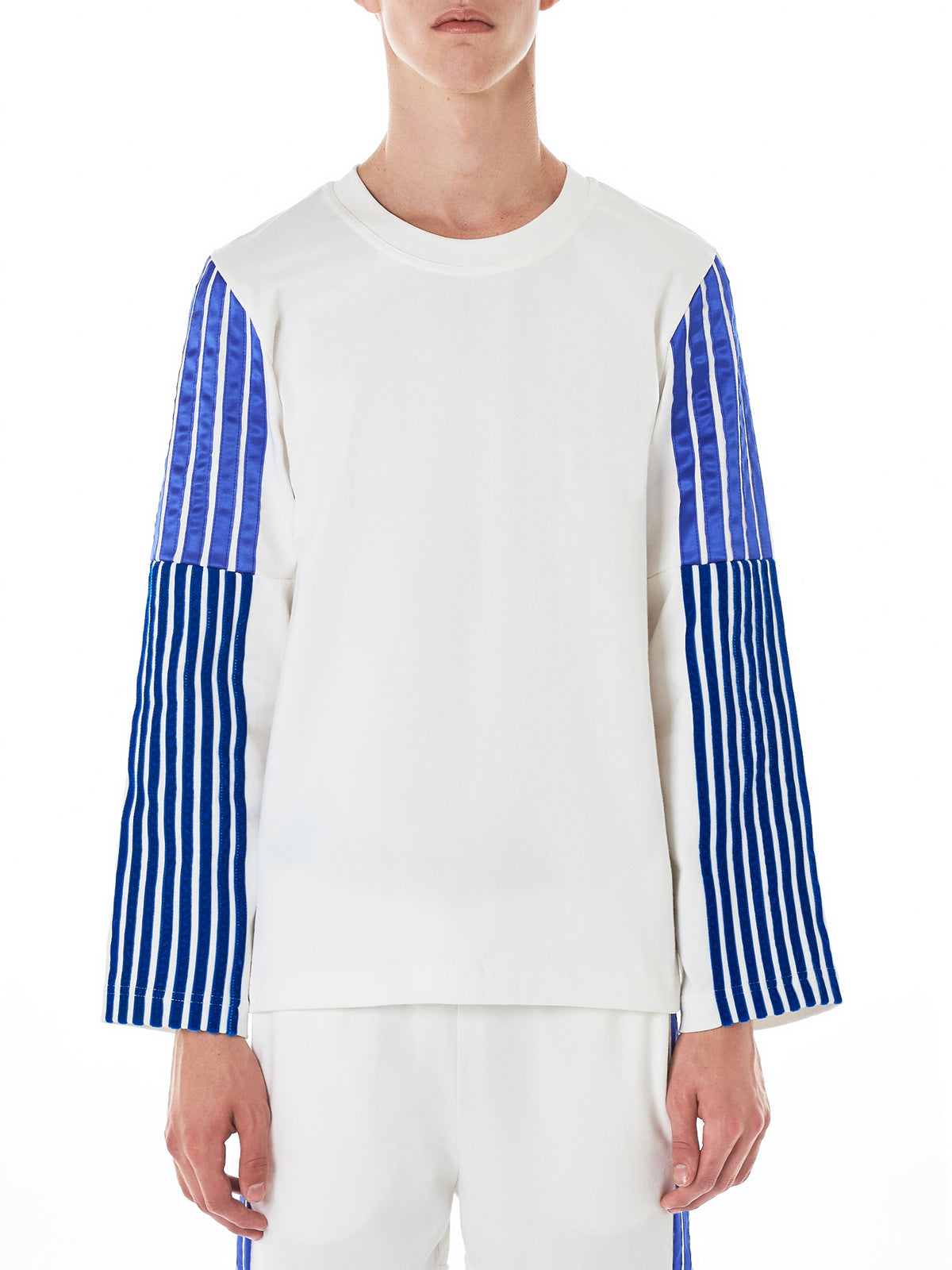 Striped Long-Sleeve Tee (TS136A-WHT-ROYBLU-PURP-STRIPES)