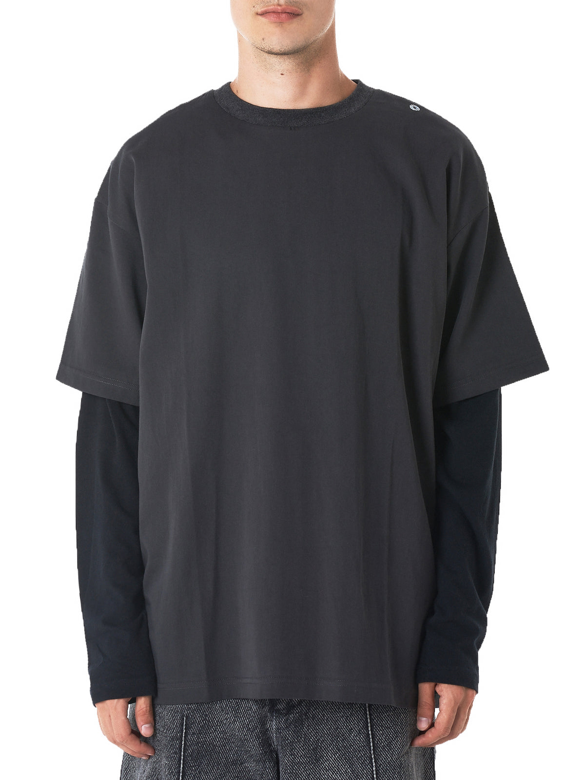 Long-Sleeve Crewneck Tee (TS1K-LAYERED-BLACK)
