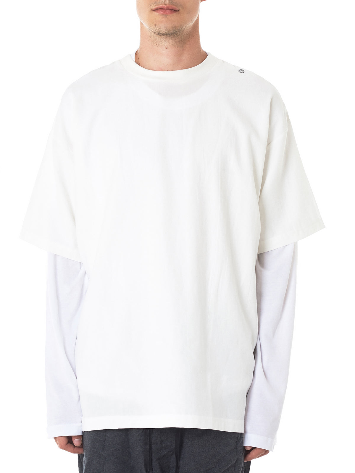 Graphic Crewneck Tee (TS1W-LAYERED-WHITE)